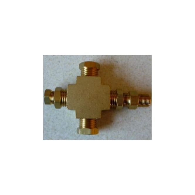 4 Way Brass Thread Adapter