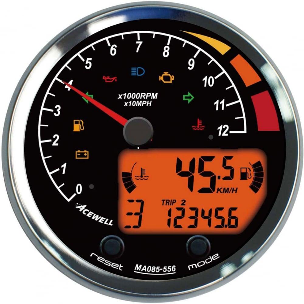acewell ma85 multifunction gauge speedometer rpm temperature