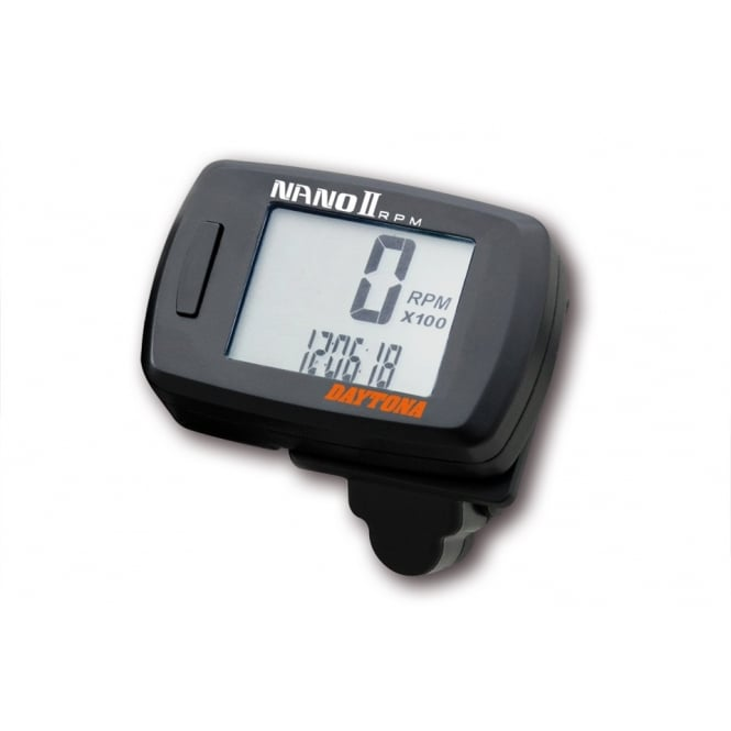 DAYTONA Nano II Tachometer, RPM gauge with digital readout supplied with mounting bracket