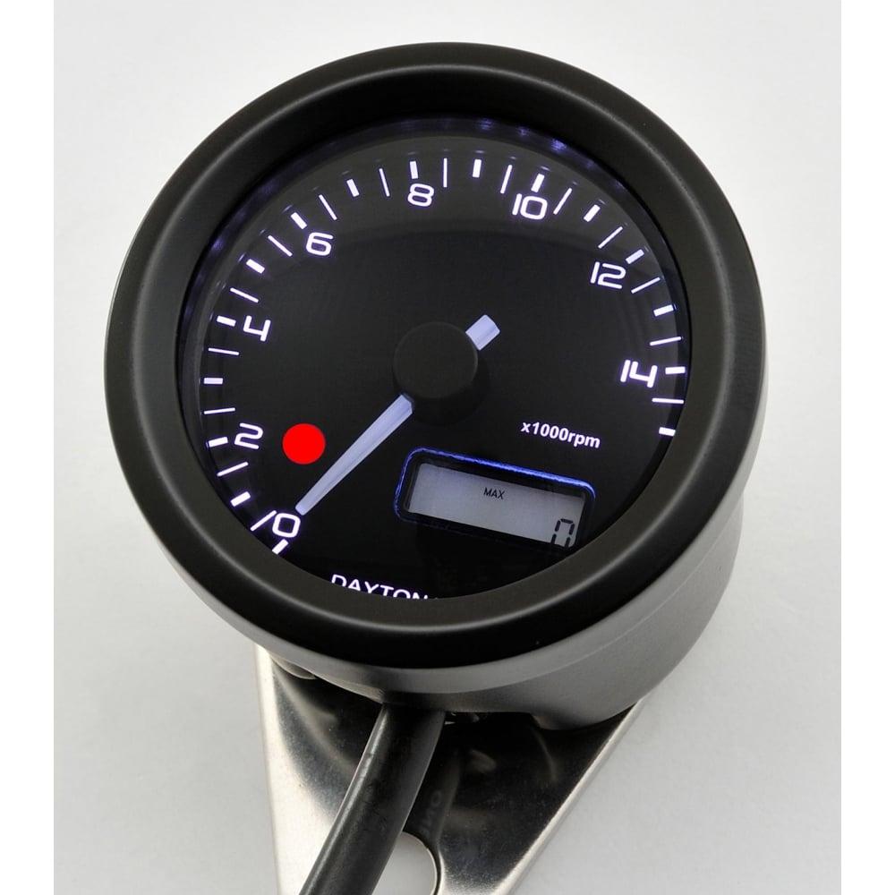 Velona 15K Tachometer With Shift Light 48mm Black