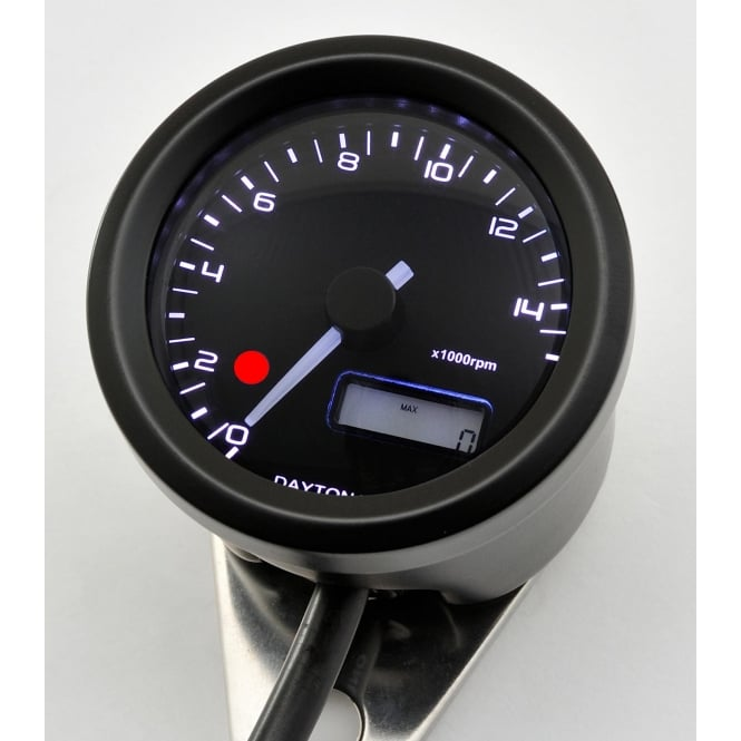 DAYTONA Velona 15K Tachometer With Shift Light 48mm Black
