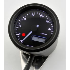 Velona 15K Tachometer With Shift Light 48mm Black