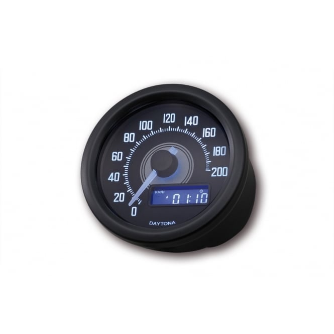 DAYTONA Velona 200 Speedometer 60mm Black