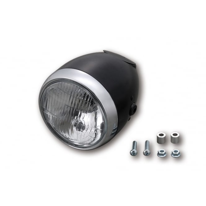 DAYTONA Vintage H4 5-3/4 Inch Headlight Black