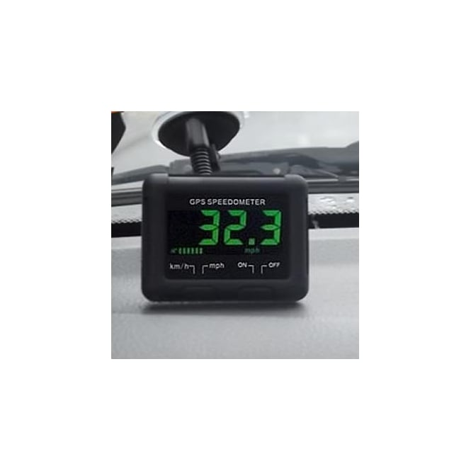 DS50 GPS Speedometer, self contained battery operated speedometer with bracket