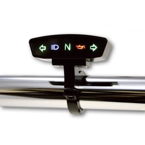 Warning Light Unit in Black, five symbols, Indicators L & R, high beam, neutral and oil pressure