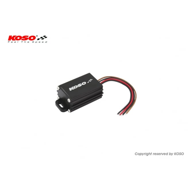 KOSO AC-DC Voltage Regulator, accepts input voltages of 0-30 volts ac or dc outputs 12 volts DC