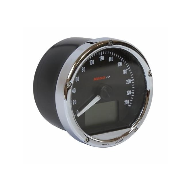 KOSO CRB01S/TNT-01S Speedometer 240 MPH/KPH - Includes a Magnetic Speed Sensor