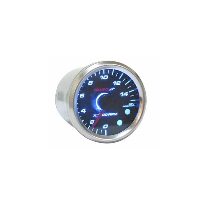 KOSO D48 Black 15k Tachometer With Shift Light