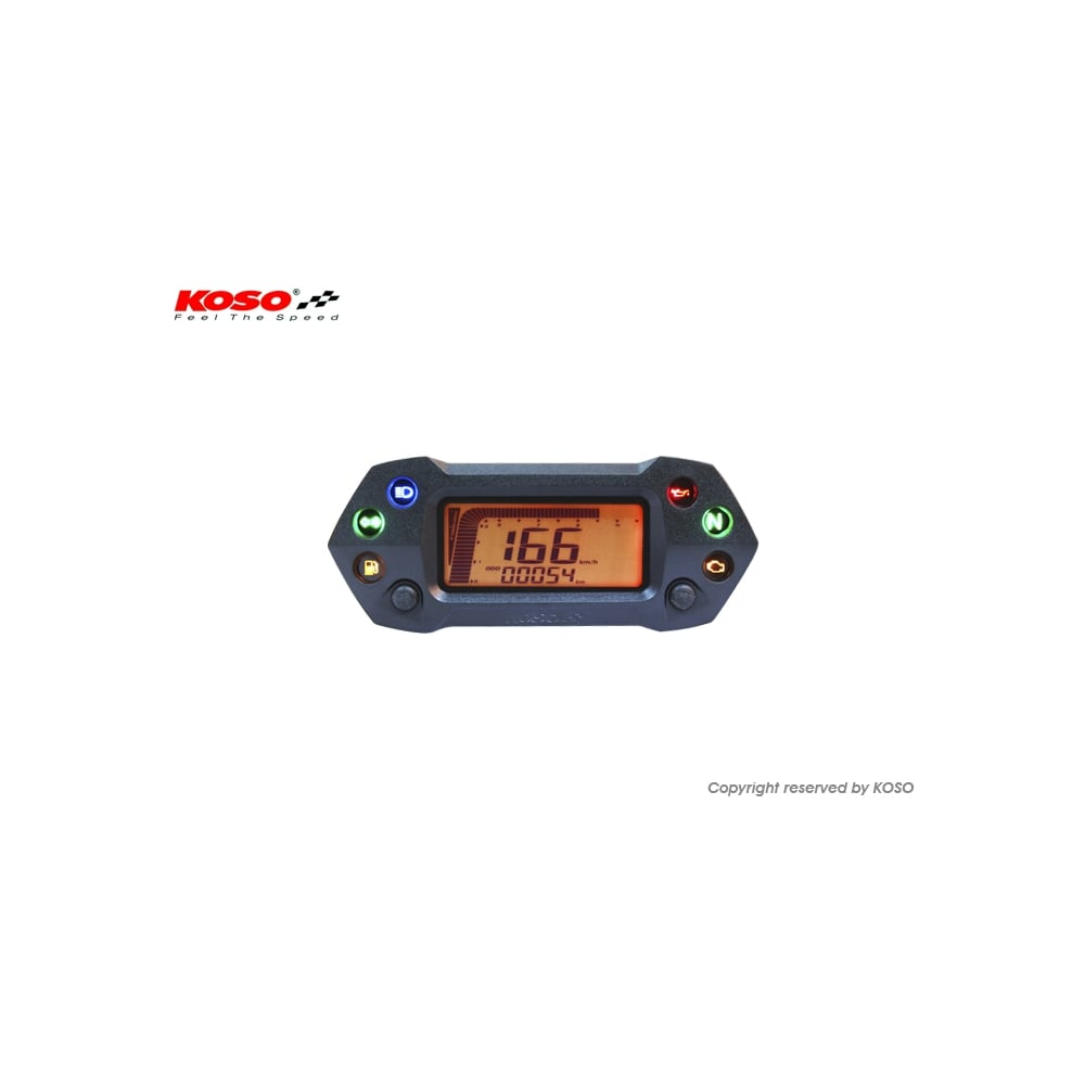 koso db 01r multifunction gauge p6 207_image koso db01r plus, digital speedometer, rev counter 6 warning lights, Simple Circuit Diagram at panicattacktreatment.co