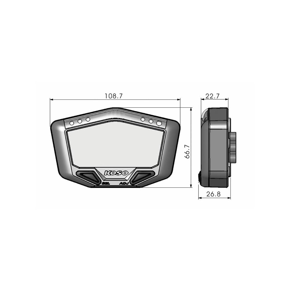 Koso Db 02r Wiring Diagram Download Diagrams Multifunction Gauge Digital Speedos Rh Co Uk