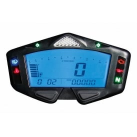 DB-03R Multifunction Gauge - Speed, RPM, Fuel, Warning Lights, Temp, Gear Indicator includes speed sensor