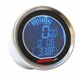 DL-01R Tachometer, RPM, Two Temperature Gauges, Polished Stainless steel case
