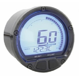 DL-02R Tachometer Black - Two Temperature Gauges, Time Clock