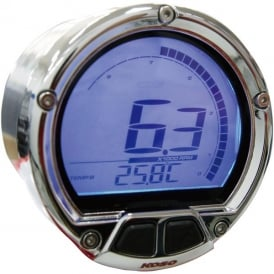 DL-02R Tachometer Chrome - Two Temperature Gauges, Time Clock