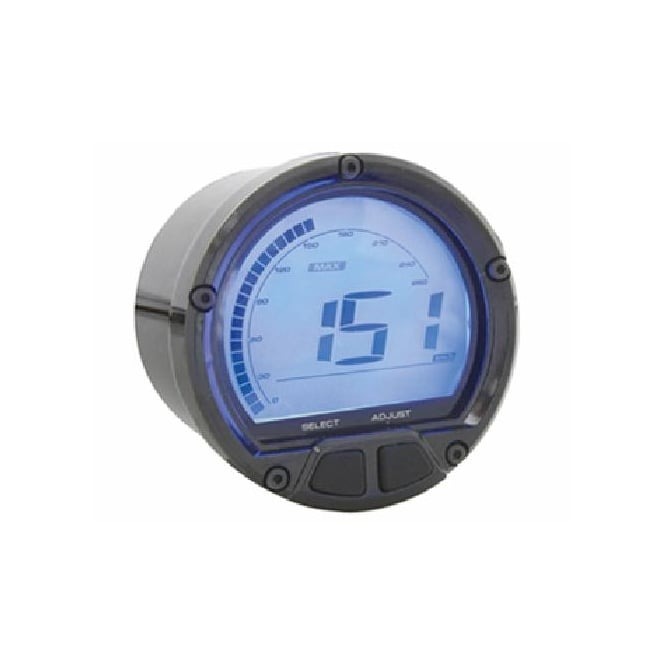 KOSO DL-02S Speedometer Black - Includes a Magnetic Speed Sensor