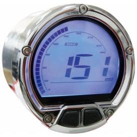 DL-02S Speedometer Chrome - Includes a Magnetic Speed Sensor