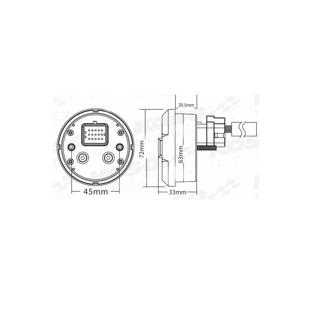 Koso Dl 02s Wiring Diagram Circuit Schematic Speed Sensor 03sr Multifunction Gauge Silver Digital Speedos Home Diagrams