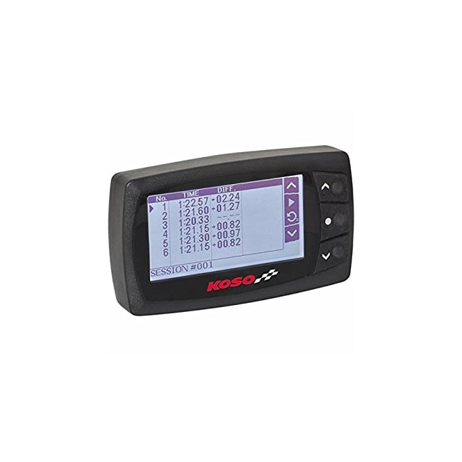 KOSO GPS Lap Timer, includes fast 10hz GPS sender, up to 200 laps per session, includes speed reading