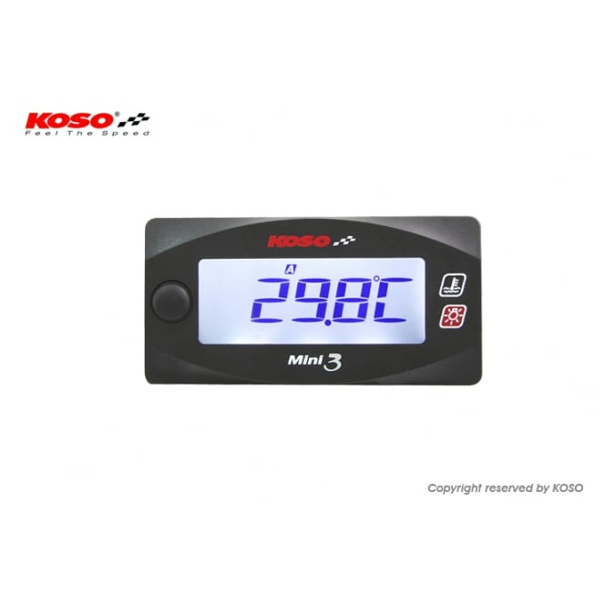 KOSO Mini 3 Dual Temperature Gauge