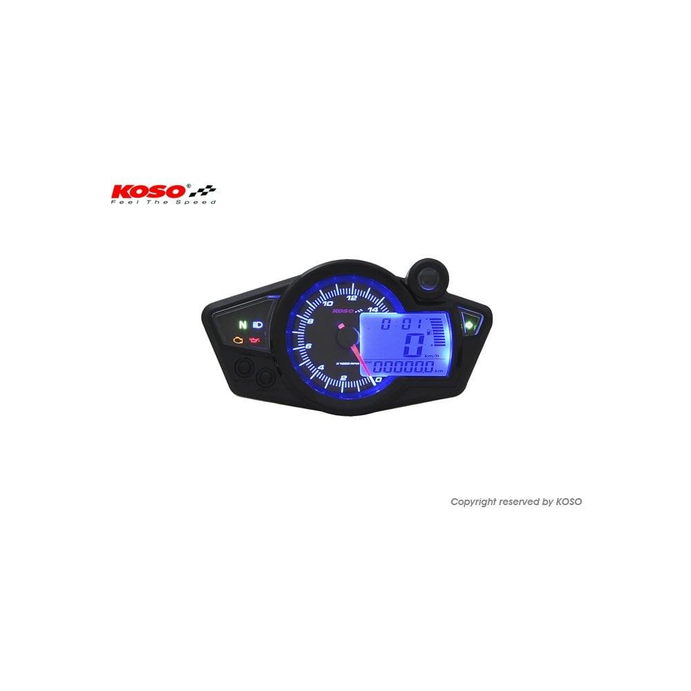 Koso Rx 1n Multifunction Gauge Black Blue Digital Speedos Wiring Diagram Includes A Magnetic Speed Sensor
