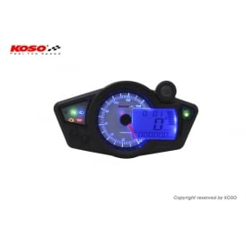 RX-1N+ White/Blue Multifunction Gauge,Speed, RPM, Temerature, Fuel & Warning Lights