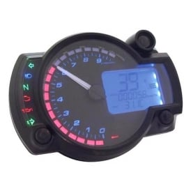 RX-2N+ 10K Black Multifunction Gauge - Includes an Active Speed Sensor