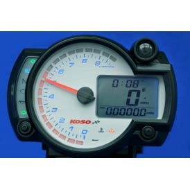 RX-2N+ 10K White Multifunction Gauge, Speed, RPM, Temerature, Fuel & Warning Lights