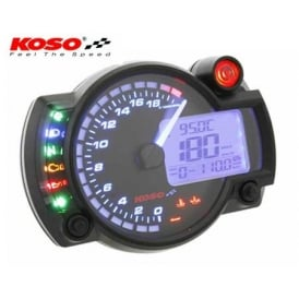 RX-2N+ 20K Black Multifunction Gauge - Includes an Active Speed Sensor