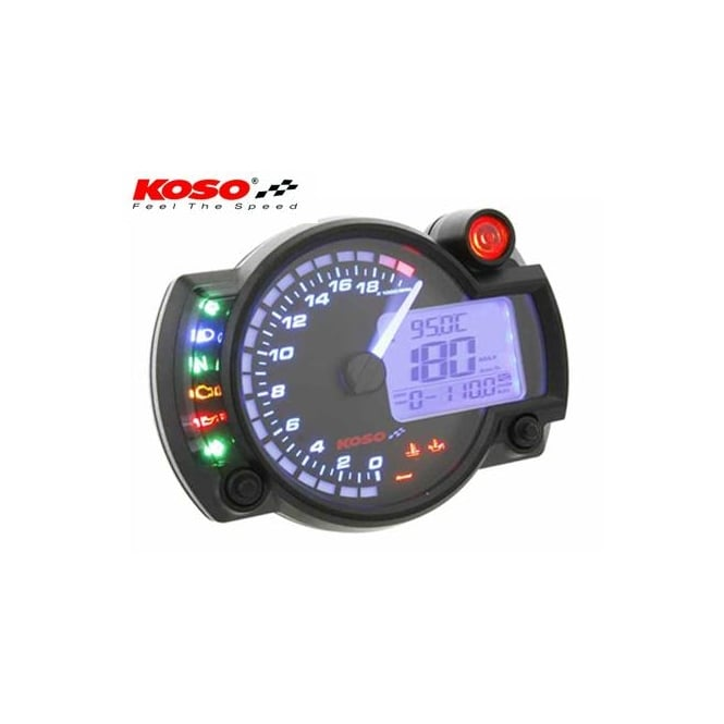 KOSO RX-2N+ 20K Black Multifunction Gauge
