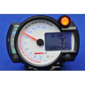 RX-2N+ 20K White Multifunction Gauge, Speed, RPM, Temperature, Fuel 7 Warning Lights