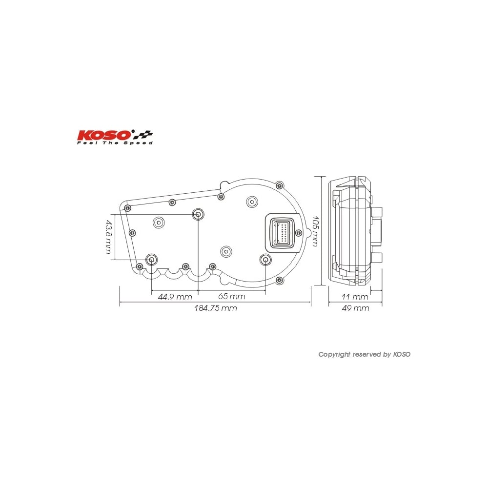 KOSO RX2 Multifunction Gauge digitalspeedoscouk – Koso Wiring Diagram