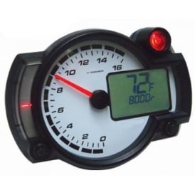 RX2NR+ Race Tachometer, Battery Or 12v, RPM, Temperature, Neutral Light
