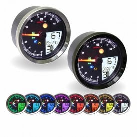 TNT-04 Multifunction Gauge - Speed, RPM, Temp, Gear Indicator, 8 colour back grounds..