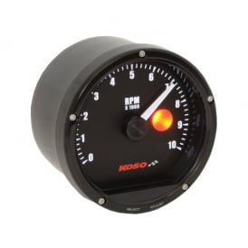 TNT 10K 80mm Tachometer - 12V or 9V Battery, Single Or Multi Cylinder, Shift Light