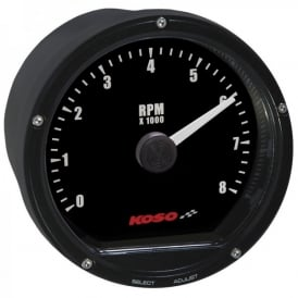 TNT 8K 80mm Tachometer for 12 volt applications
