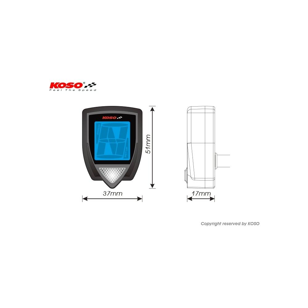 TL1000R PZRacing Universal Gear Indicator Suzuki Bandit 600 650 1200 1250