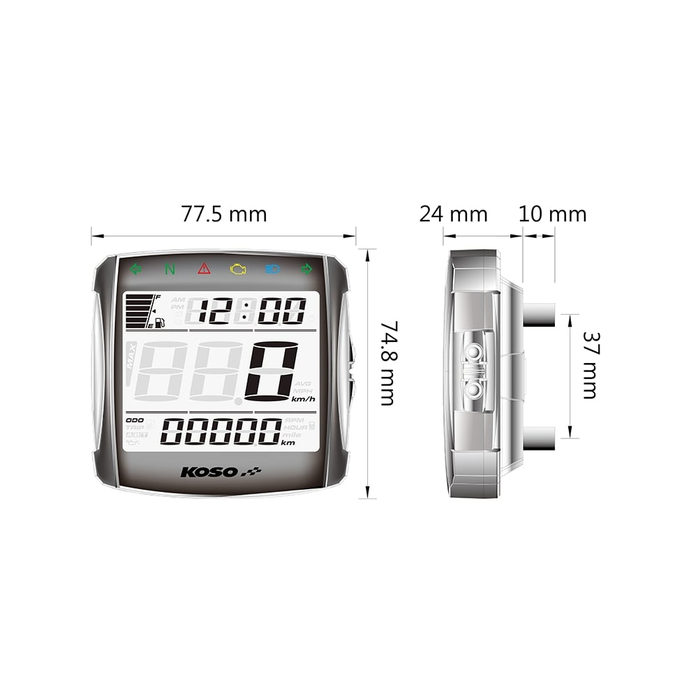 Koso Xr Sa Wiring Diagram Basic Guide 01s Multifunction Gauge Digital Speedos Co Uk Rh Light Switch