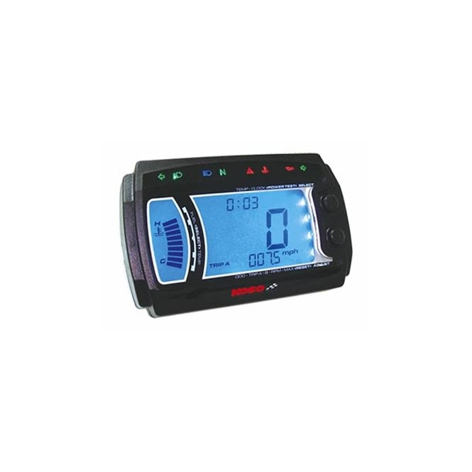 KOSO XR-SRN+ Multifunction Gauge, Speed, RPM, Warning Lights, Volt, Temperature, Fuel