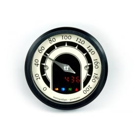 Motoscope Tiny Speedster Black Anodised Bezel