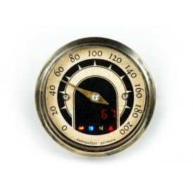 Motoscope Tiny Vintage - Brass Case Speedometer With Warning Lights