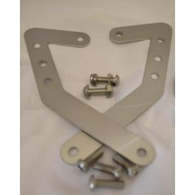 MT03 Brushed Stainless Steel Brackets