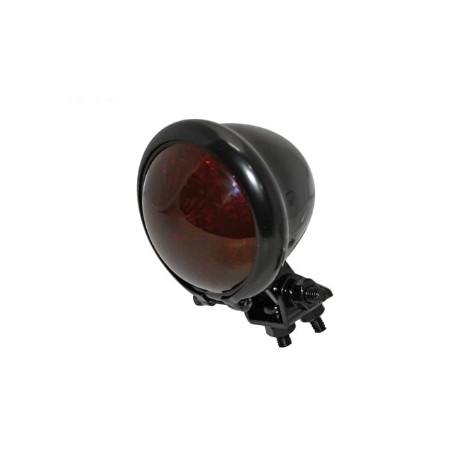 Shin Yo Bates Style LED Tail Light Black metal case with Black Smoked Lens and mounting bracket