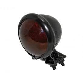 Bates Style LED Tail Light Black metal case with Black Smoked Lens and mounting bracket