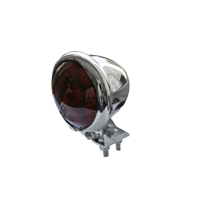 Shin Yo Bates Style Tail Light Chrome With Red Lens