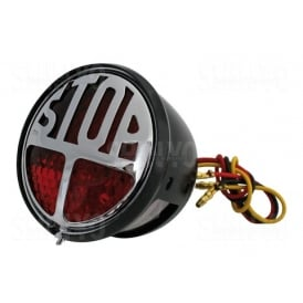 "LED ""Vincent"" Style Stop / Tail Light Red Lens"