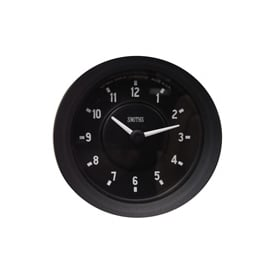 Black 60mm Time Clock Half V Black Bezel
