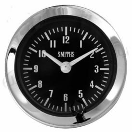 Black 60mm Time Clock Half V Chrome Bezel
