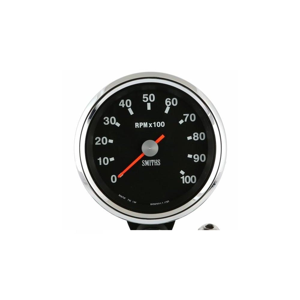Smiths Black Dial 10k Tachometer