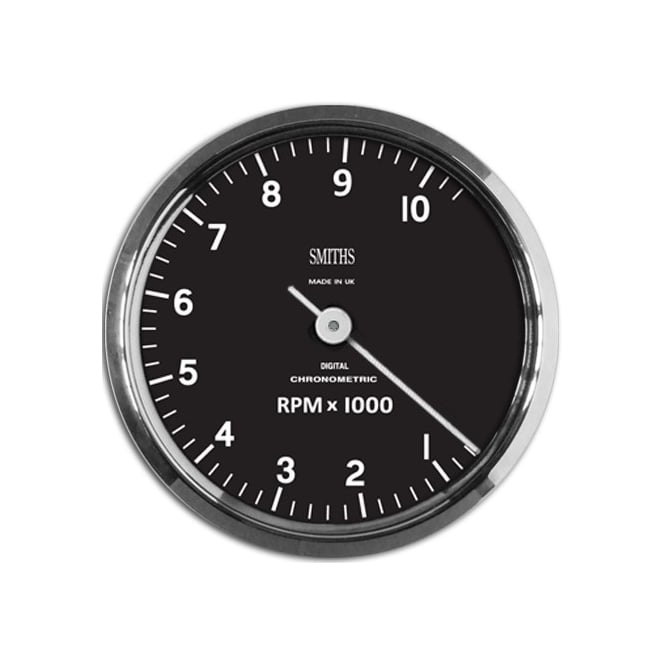 Smiths Chronometric C Shape 10k Tachometer - Smooth Sweep Or Ticking Motion